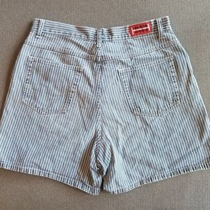 Pants - Vintage High Waisted Striped Jean Shorts size 10